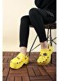 Oksit Toya Desenli Hafif Kadın Sandalet Sarı